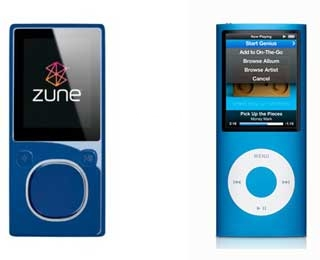 Zune ir iPod Nano